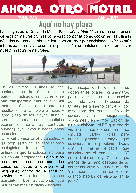 Boletín informativo Asamblea Local IU Motril