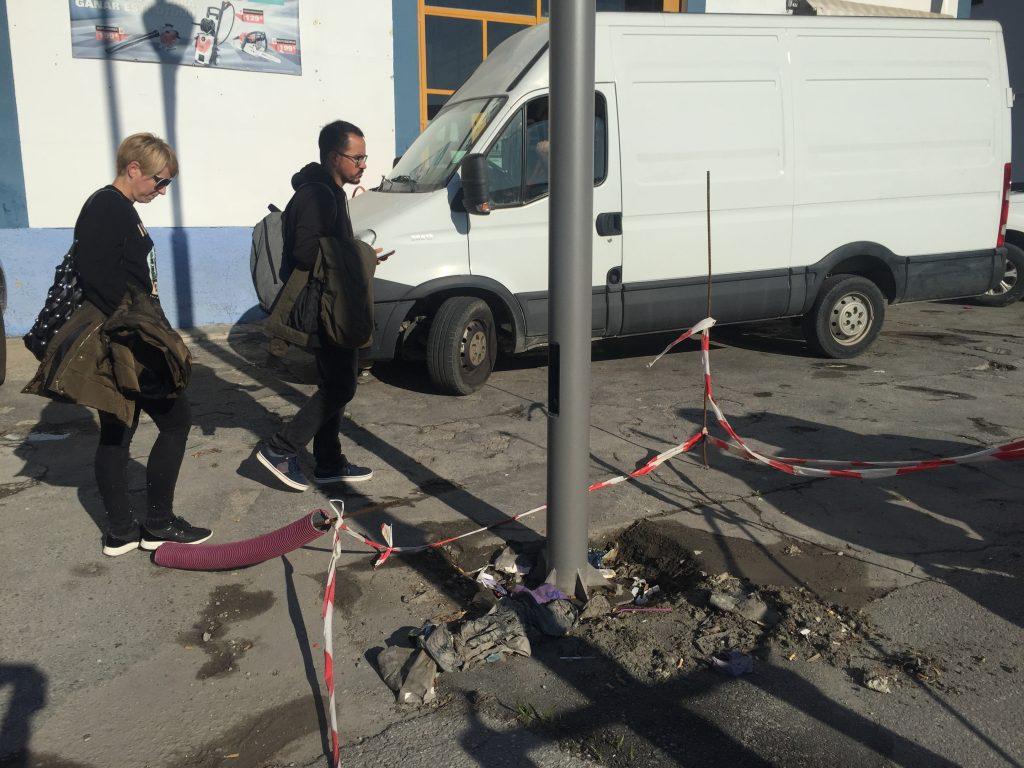 deterioro aceras avenida europa
