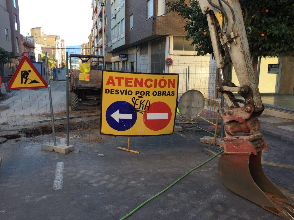 Obras calle Ancha Motril